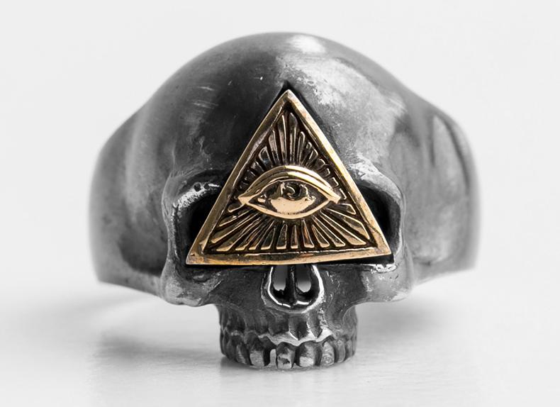 totenkopf ring silber 925