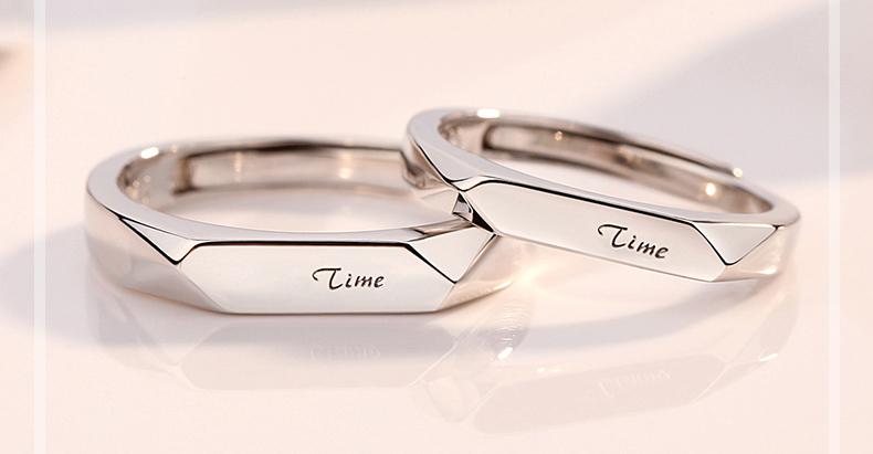 paar ringe silber