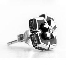 einzelner Ohrstecker Herren Kreuz Silber 925