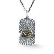 Halskette Herren Silber mit Anhänger Auge