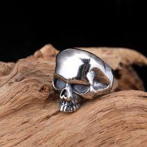 Herrenring 925 Silber Totenkopf offene Ring Vintage