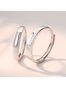 Silber Ringe für Paare Verlobungsringe Silberringe Hochzeit