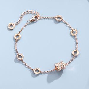 Armband 925 Silber Damen schlicht Armkette