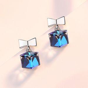 Ohrstecker Schleife Silber Ohrringe mit Zirkonia