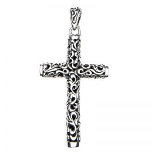 Halskette Herren Silber mit Kreuz Anhänger