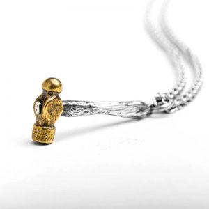 Hammer Halskette Herren 925 Silber