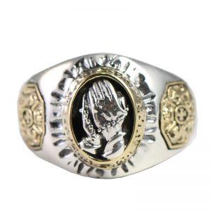 Herrenring 925 Silber Händen Ring