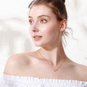Damen Halskette Silber Ketten für Frauen mit Fisch Anhänger