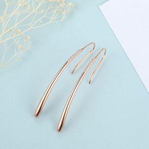 Ohrhaken Silber vergoldet Ohrringe lang hängend