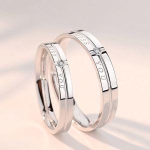 Partnerringe Silber 925 Verlobungsring mit Zirkonia