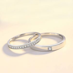 Verlobungsringe Silber mit Stein Eheringe Schlicht