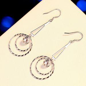 Ohrhaken Silber 925 Ohrringe Rund mit Zirkonia