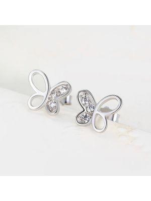 Ohrringe Damen Silber 925 Ohrstecker Schmetteling