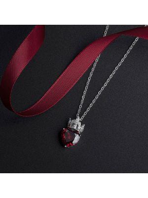 Damen Halskette Schlüsselbein Kette silber für Frauen mit Herz