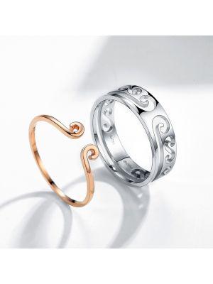 verlobungsringe silber paar