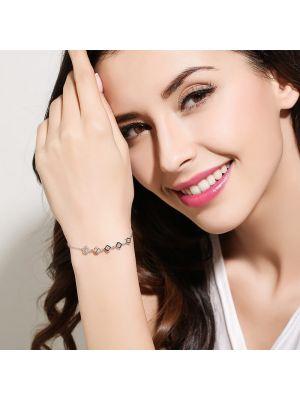 Armkette Damen Silber mit Zirkonia Armband