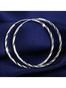 große runde Ohrringe Silber Damen