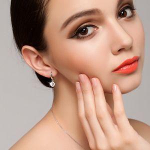 Damen Ohrringe Silber 925 mit Zirknoia