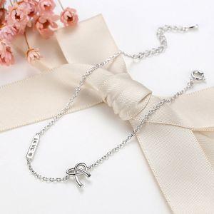Armkette Silber Damen schlicht Knoten