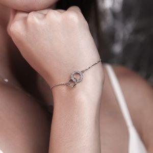 Silberarmband mit Zirkonia Damen Armband