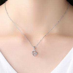 Halskette Silber vierblättriges Kleeblatt Kette