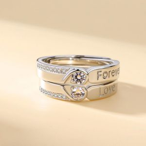 Verlobungsringe 999 Silber mit Zirkonia Eheringe