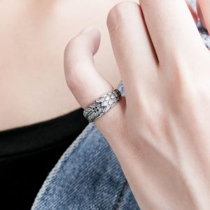Ring Silber Herren mit Zirkonia kleiner Finger