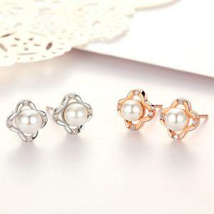 vergoldete Silber Ohrstecker mit Perlen
