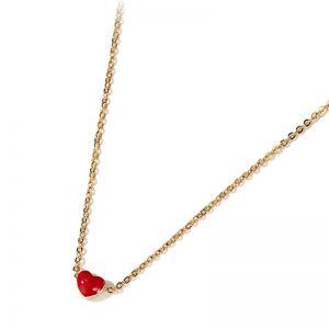 Halskette Damen Edelstahl mit Herzform Anhänger