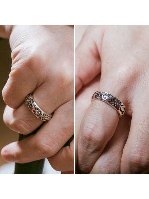 Herren Ring mit Gravur aus 925 Silber Vintage