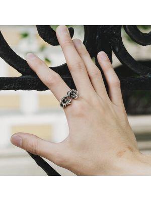 Herrenring Silber Vintage moderne Ringe Silber