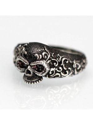Herrenring Silber Totenkopf Totenkopfring