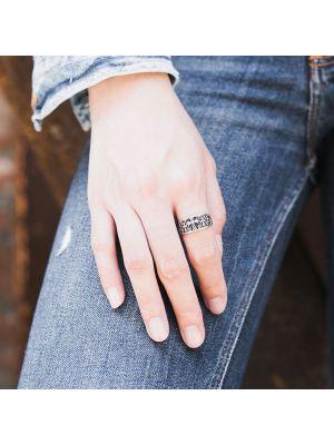 Hippie Ringe echt Silber Herren Silberring