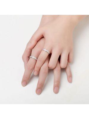 Partnerringe Silber matt Verlobungsringe Paar